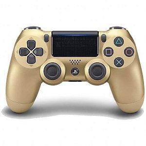 Controle DualShock 4 Sem fio para PS4 - Dourado
