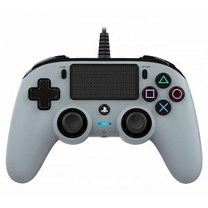 Controle Com Fio Compacto PS4 Cinza - Nacon