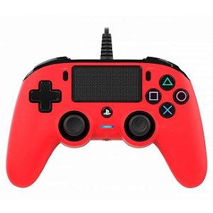 Controle Com Fio Compacto PS4 vermelho - Nacon