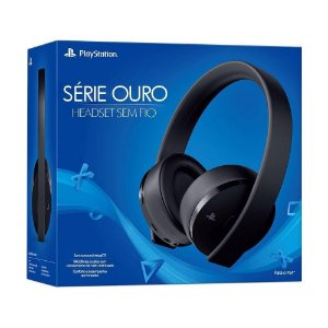 New Gold Wilress Headset 7.1 Virtual Surround Preto Garantia  Oficial - Sony