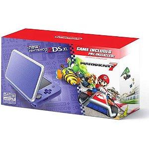 Console Nintendo 2DS XL Roxo e Prata Mario Kart 7 Bundle - Nintendo
