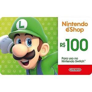 Gift Card R$ 100 - Nintendo Switch