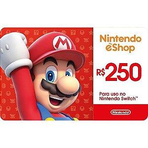 Gift Card R$ 250 - Nintendo Switch