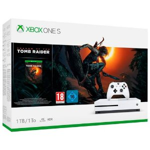 Console Xbox One S 1TB Shadow of The Tomb Raider Bundle - Microsoft
