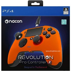 Controle Com Fio Nacon Revolution Pro 2 Laranja - Nacon
