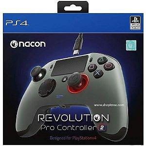 Controle Com Fio Nacon Revolution Pro Cinza - PS4
