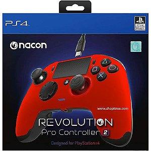 Controle Com Fio Nacon Revolution Pro 2 Vermelho - Nacon