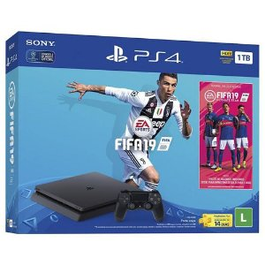 Console PS4 1TB Slim + Game FIFA 19 CUH2215B - Sony
