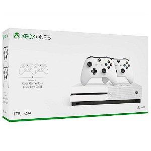 Console Xbox One S 1TB + Controle Sem Fio Adicional - Microsoft