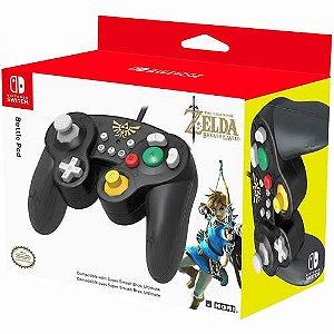Controle com Fio Battle Pad Hori The Legend of Zelda Breath of The Wild - Switch