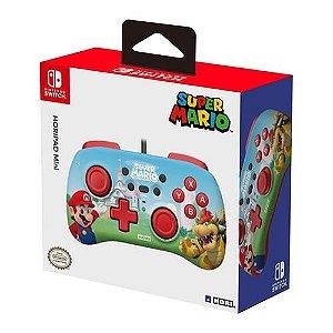 Controle Com Fio Hori Mini Pad Super Mario - Switch