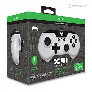 Controle Com Fio Hyperkin X91 Branco - Xbox One