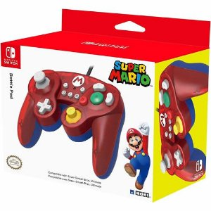 Controle com Fio Battle Pad Hori Super Mario - Switch