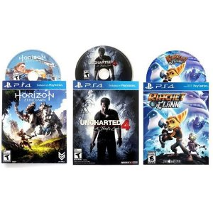 Game Horizon Zero Dawn + Ratchet & Clank + Uncharted 4 A Thief's End - PS4