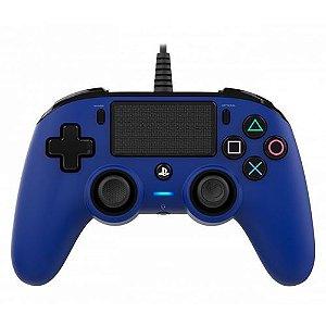 Controle Com Fio Compacto PS4 Azul - Nacon