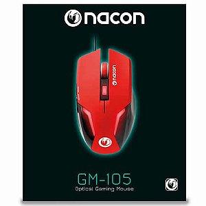Mouse Gamer Nacon GM-105 Vermelho - Nacon