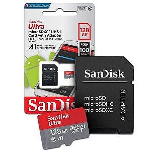 Cartão de Memória Micro SD Ultra Classe 10 80 MB/S 128GB - Sandisk