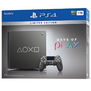 Console PS4 1TB Slim Days of Play CUH2214B - Garantia Oficial - Sony