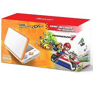 Console New 2DS XL Laranja e Branco Mario Kart 7 Bundle - Nintendo