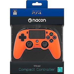 Controle com Fio compacto PS4 Laranja - Nacon
