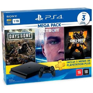 Console PS4 1TB Slim Bundle Hits CUH2214B  Nacional - Sony