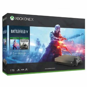 Console Xbox One X 1TB Gold Rush Battlefield Bundle - Microsoft