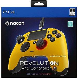 Controle Com Fio Nacon Revolution Pro 2 Amarelo - Nacon