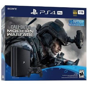 Console PS4 Pro 1TB Call of Duty Modern Warfare Bundle CUH7215B - Sony