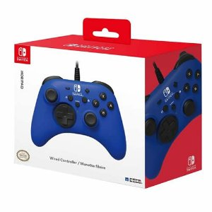 Controle com Fio Hori Azul - Switch