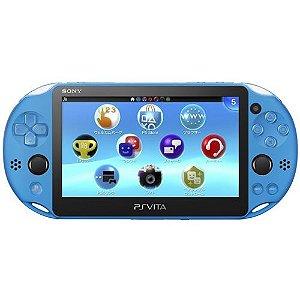 Console Psvita Wi-Fi PCH2006 Aqua Blue Henkaku + 128GB - Sony