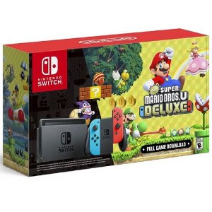 Console Nintendo Switch 32GB New Super Mario Bros U Deluxe Bundle - Nintendo
