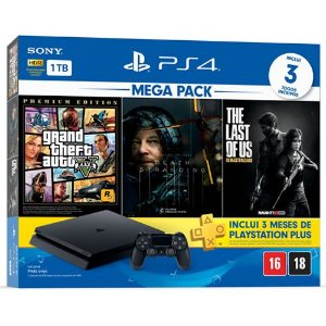 Console PS4 1TB Slim Mega Pack Hits 9 - Sony
