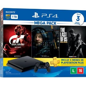 Console PS4 1TB Slim Mega Pack Hits 10 - Sony