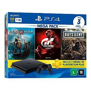 Console PS4 1TB Slim Mega Pack Hits V12 CUH2214B - Sony