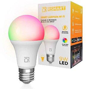Lâmpada Smart Wi-Fi LED 9W Compatível com Alexa e Google Home - RSmart