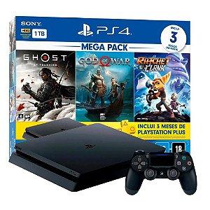 Console PS4 1TB Mega Pack 18 CUH2214B - Sony