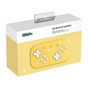 Controle 8Bitdo Bluetooth Lite - Switch , Windows , Steam - Amarelo