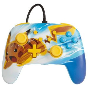 Controle Com Fio PowerA Pikachu Charge - Switch