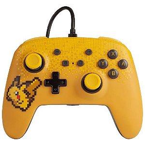 Controle Com Fio PowerA Pixel Pikachu - Switch