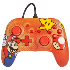 Controle Com Fio PowerA Mario Vintage - Switch
