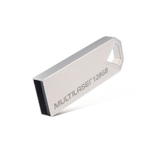 Pen Drive 128gb Multilaser Diamond Metálico - Pd853