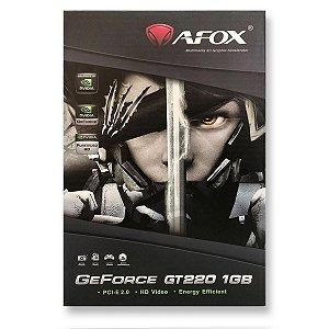 Placa Vídeo Afox GeForce GT220 1GB - DDR3, 128Bit, HDMI/DVI/VGA