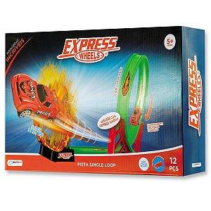Pista De Corrida Express Wheels Single Loop - Multikids BR1017