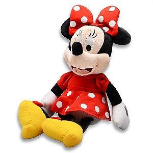 Pelúcia Disney Minnie 40cm com Som - Licenciado Disney - Multikids BR333