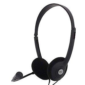 Fone Headset Office Com Microfone Flexível Preto - Bright 0010