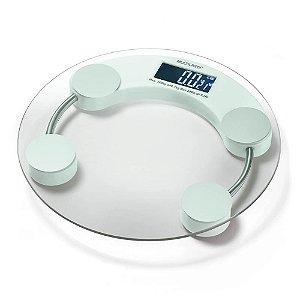 Balança Corporal Digital Banheiro – Multilaser EatSmart 180 Kg – Branca/Transparente