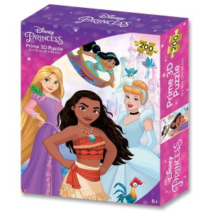 Quebra Cabeça 3d Disney Princesas 200 Peças – Prime 3d Puzzle Multikids Br1315