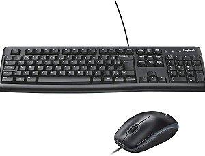 Kit Teclado E Mouse Com Fio - Logitech MK120