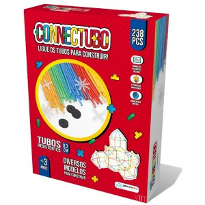Brinquedo Educativo – Connectubo 238pcs 3mm Multikids BR1397