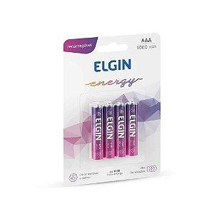 PILHA ELGIN RECAREGAVEL AAA  1000MAH 82171 - C/4 Unidades